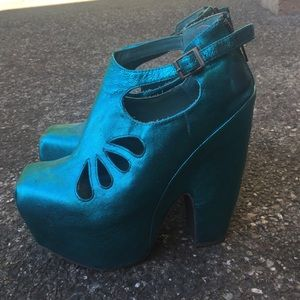 Mermaid Jeffrey Campbell Shoes Size 7